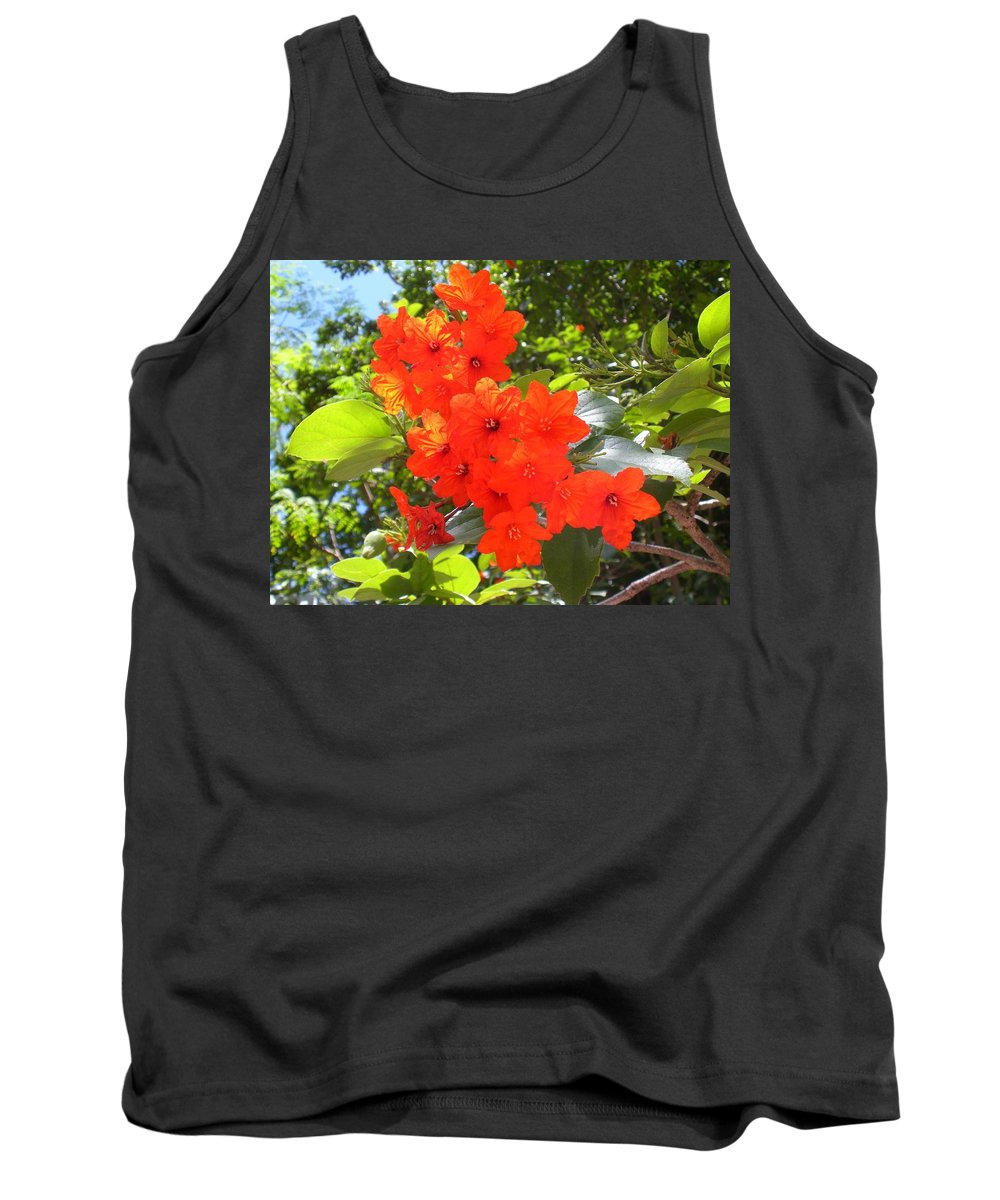 Flowers Tank Top featuring the photograph Brilliant Blossoms by Maria Bonnier-Perez