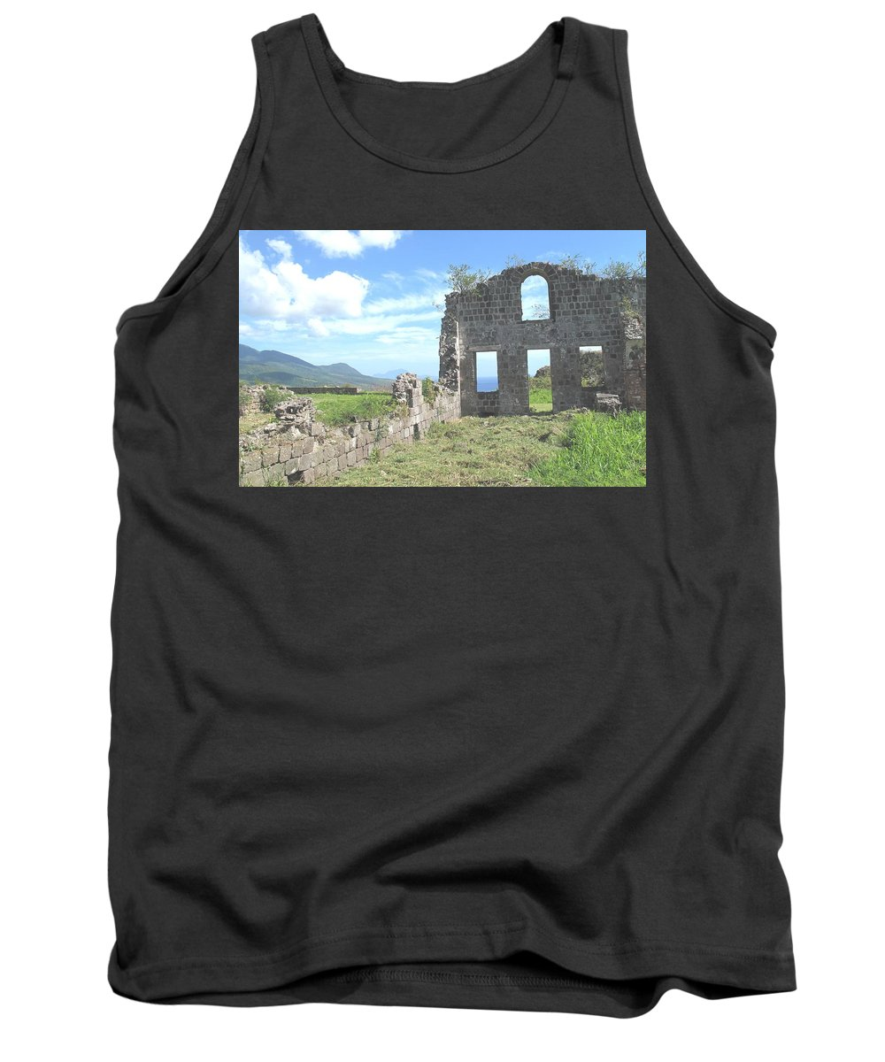 St Kitts Tank Top featuring the photograph Brimstone Ruins by Ian MacDonald