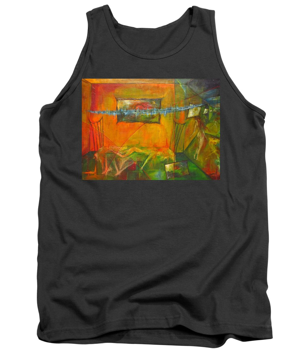 Colour Tank Top featuring the painting Broken Dream by Wojtek Kowalski