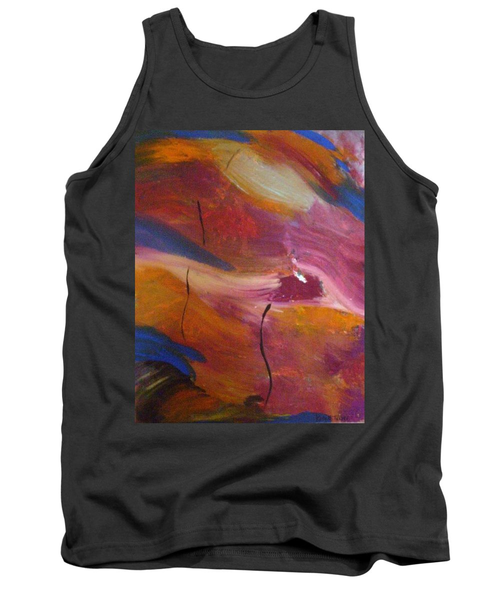 Abstract Art Tank Top featuring the painting Broken Heart by Kelly Turner