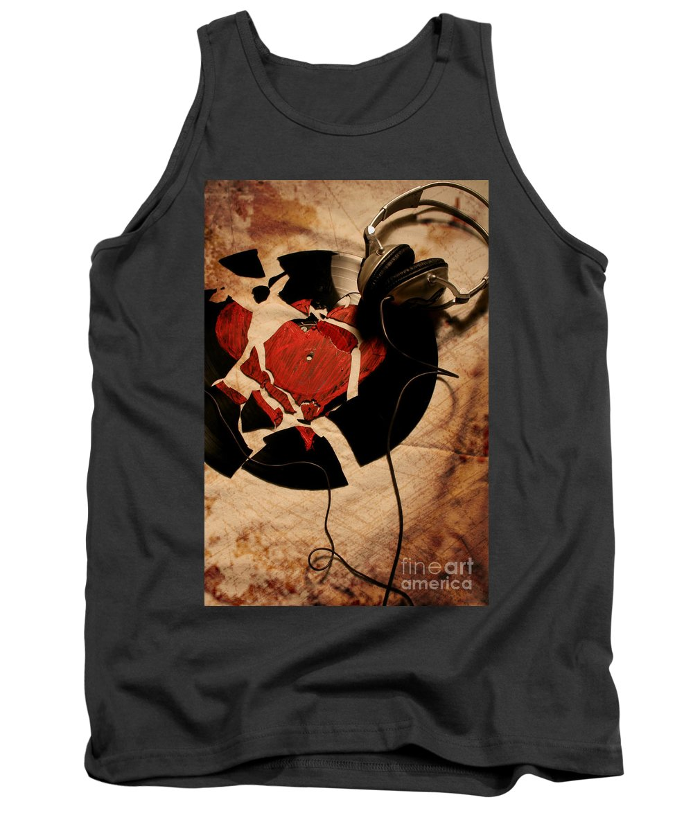 Music Tank Top featuring the photograph Broken Promises by Jason Williams