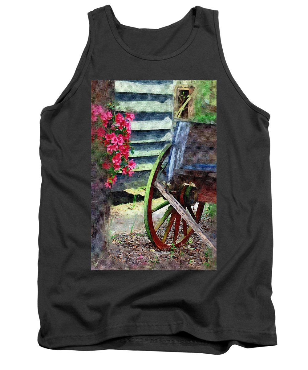 Wagon Tank Top featuring the photograph Broken Wagon by Donna Bentley