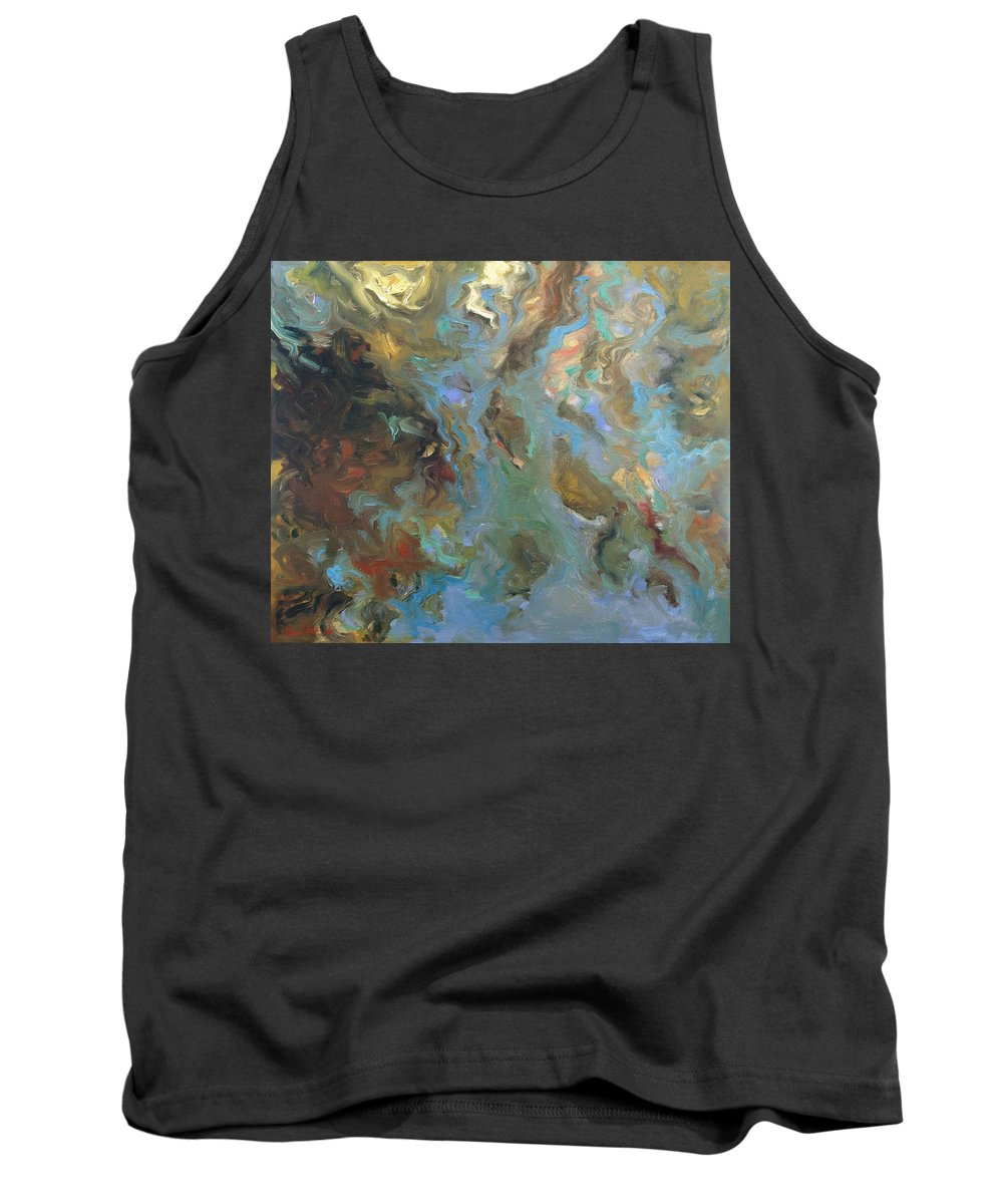 Water Tank Top featuring the painting Brown by Rick Nederlof
