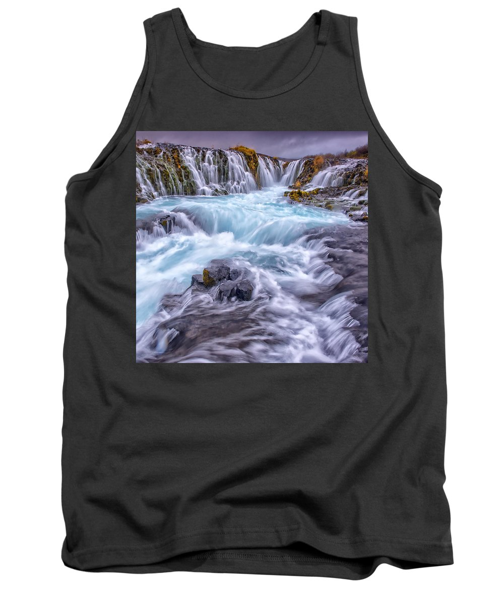 Iceland Tank Top featuring the photograph Bruarfoss by Ingrid Smith-Johnsen