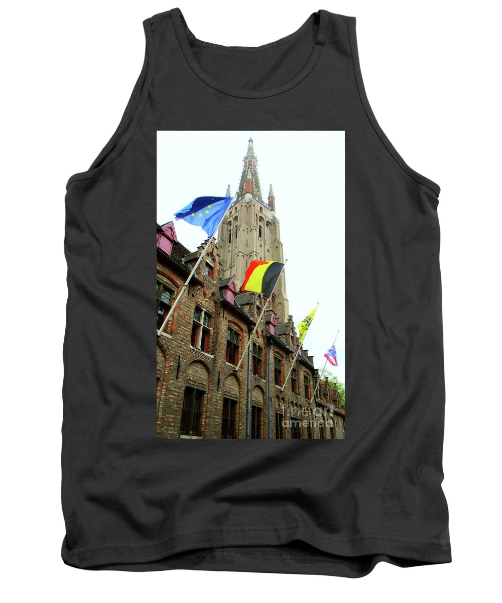 Bruges Tank Top featuring the photograph Bruges 22 by Randall Weidner