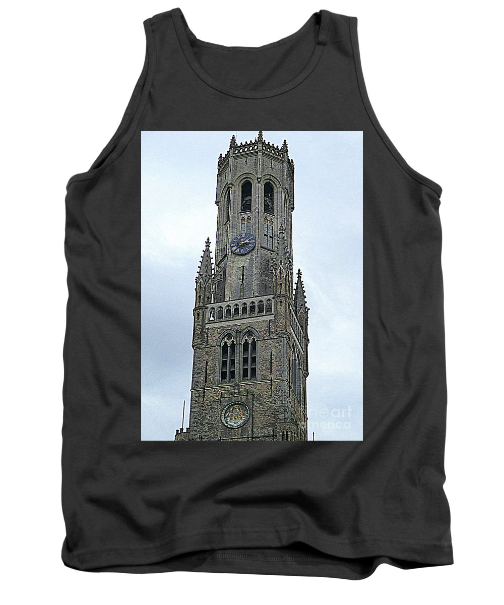Bruges Tank Top featuring the photograph Bruges Belfry 2 by Randall Weidner