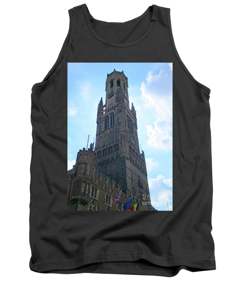 Bruges Tank Top featuring the photograph Bruges Belfry 5 by Randall Weidner