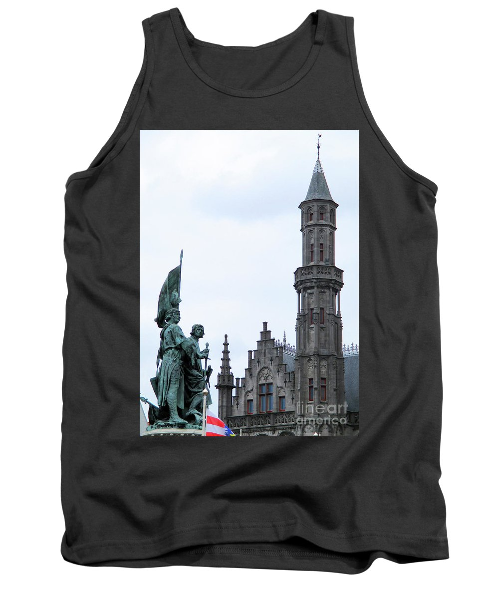 Bruges Tank Top featuring the photograph Bruges Markt 3 by Randall Weidner