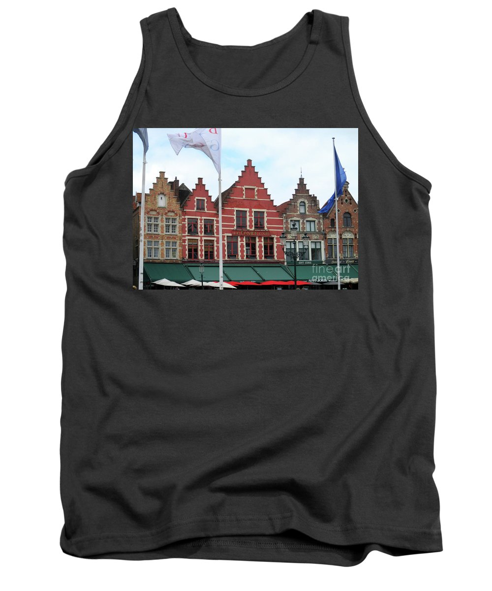 Bruges Tank Top featuring the photograph Bruges Markt 6 by Randall Weidner