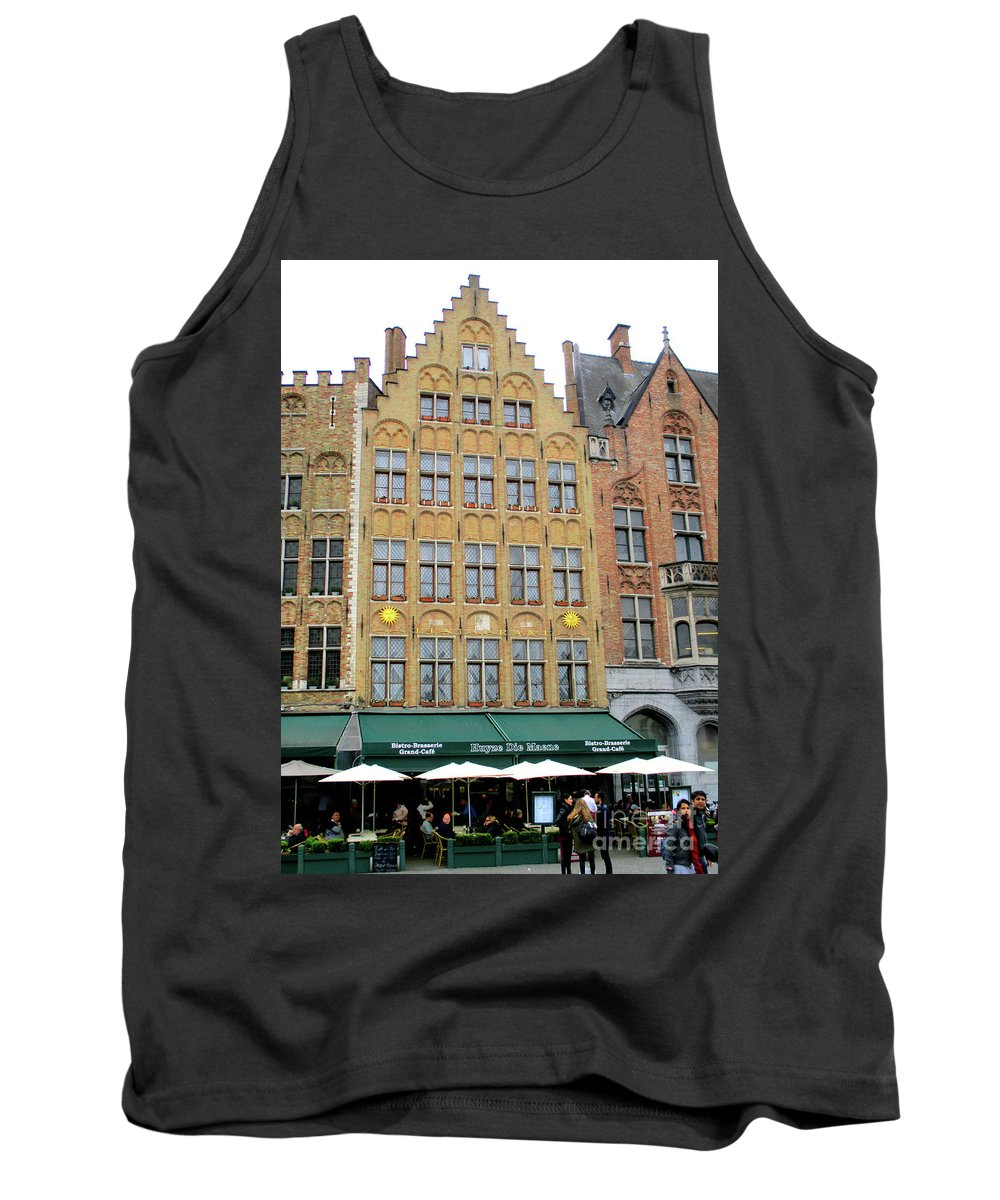 Bruges Tank Top featuring the photograph Bruges Markt 7 by Randall Weidner
