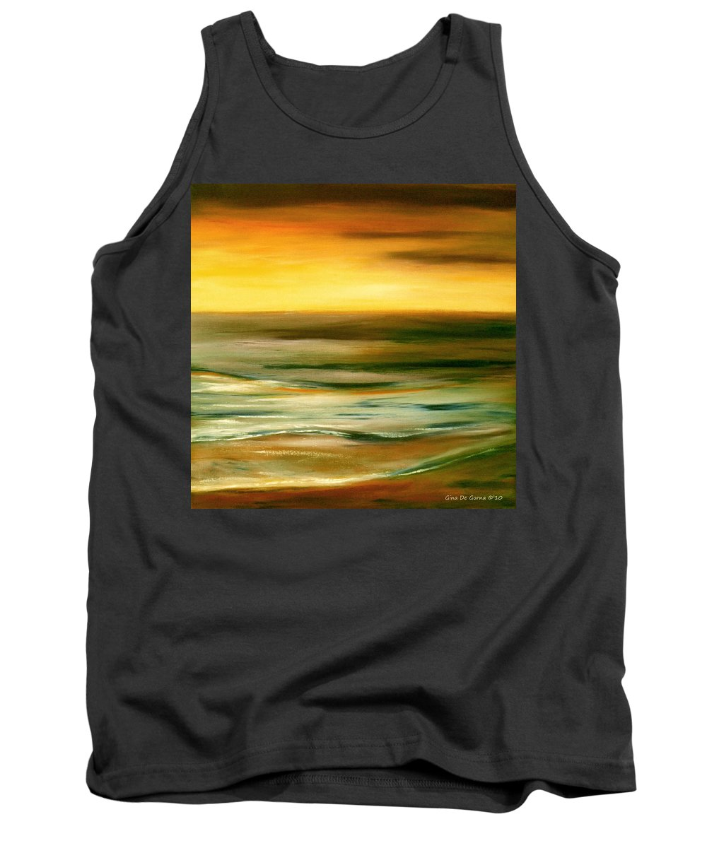 Sunset Paintings Tank Top featuring the painting Brushed 7 by Gina De Gorna