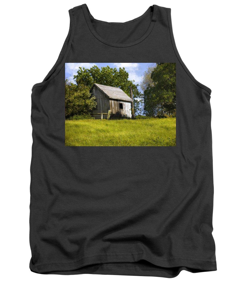 Landscape Tank Top featuring the photograph Brushy Peak Cabin by Karen W Meyer