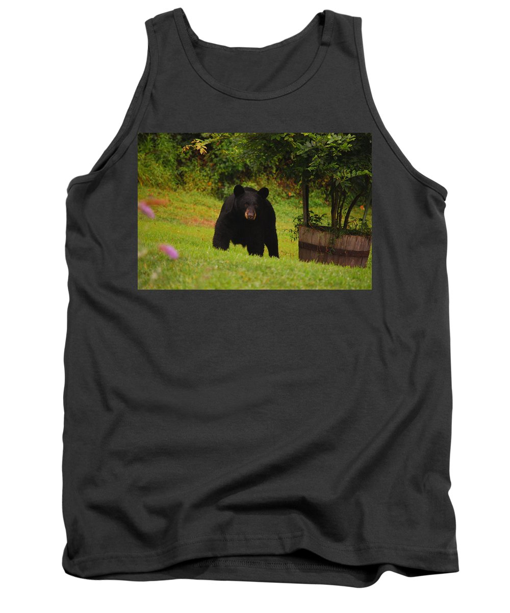 Bear Tank Top featuring the photograph Bubba by Lori Tambakis