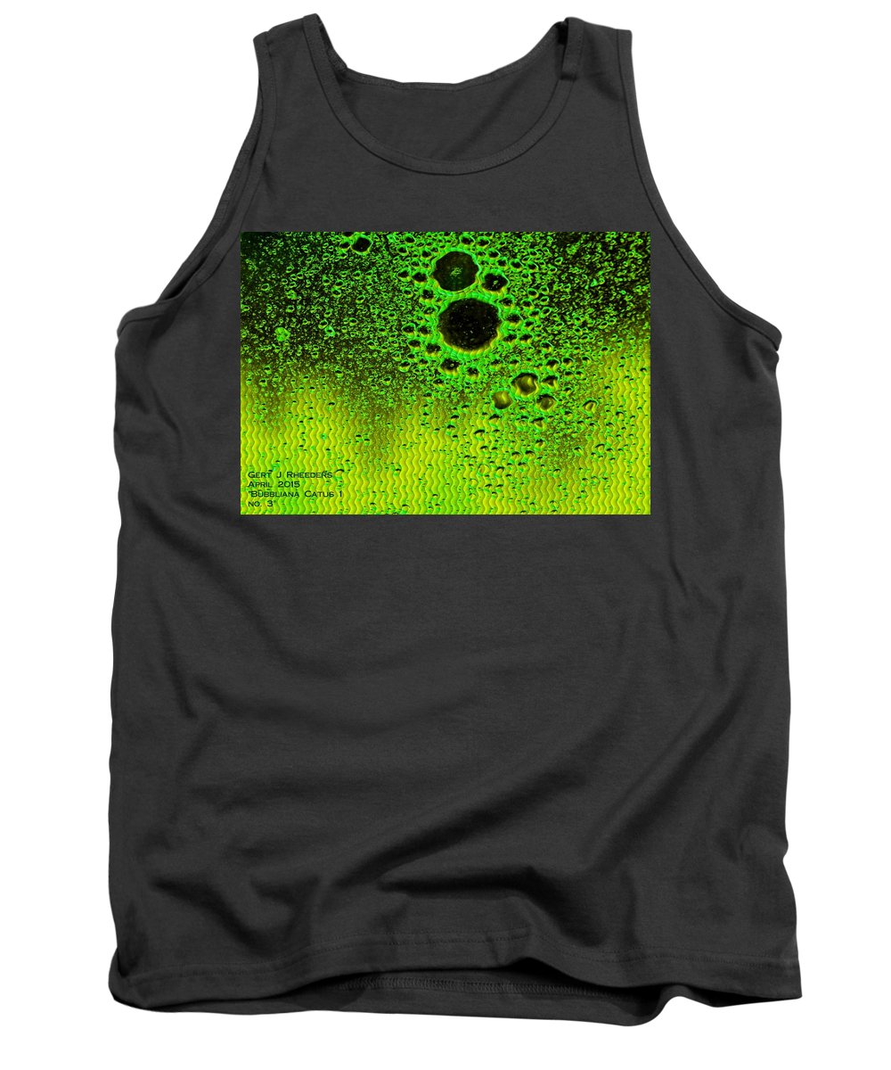 Announcement Tank Top featuring the painting Bubbliana Catus 1 No.3 H A by Gert J Rheeders