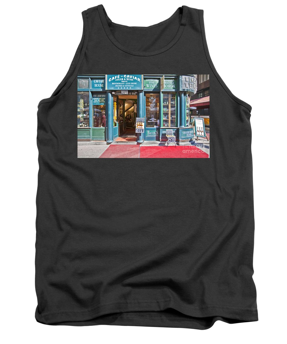 Budapest Tank Top featuring the photograph Budapest Storefront by Madeline Ellis