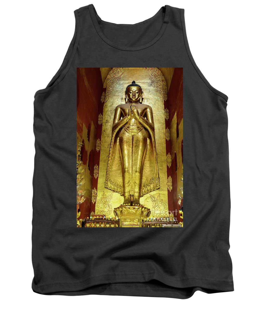 Pagoda Tank Top featuring the photograph Buddha Figure 1 by Werner Padarin