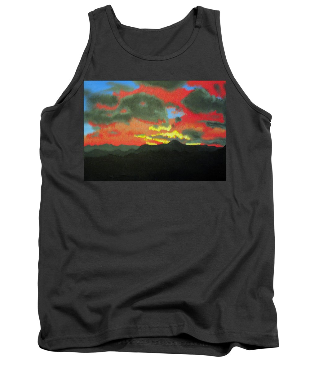 Sunset Tank Top featuring the painting Buenas Noches by Marco Morales