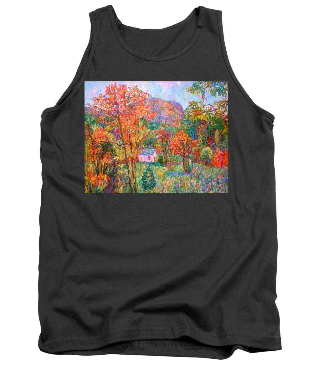 Landscape Tank Top featuring the painting Buffalo Mountain In Fall by Kendall Kessler