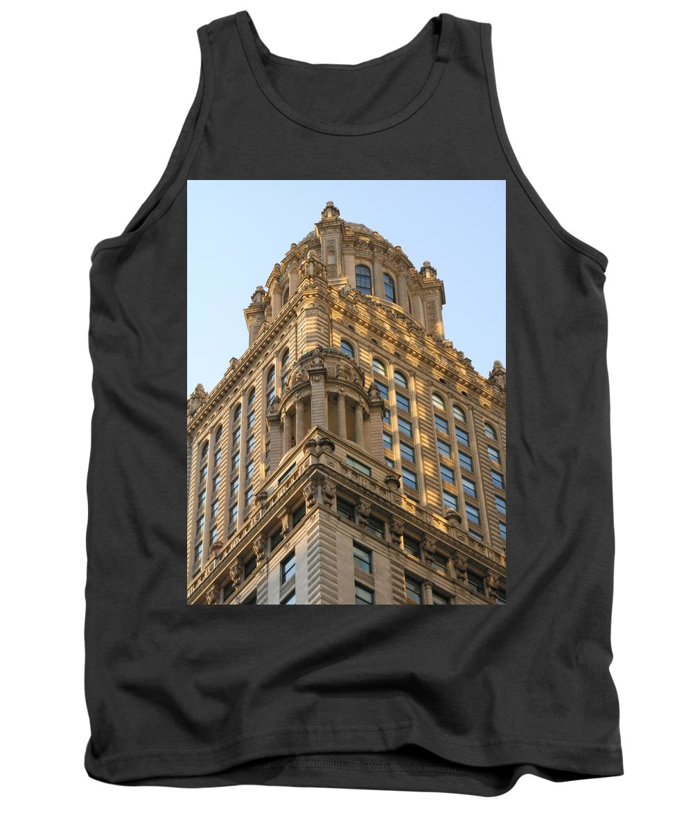 Building Tank Top featuring the photograph Building Chicago by Diane Greco-Lesser
