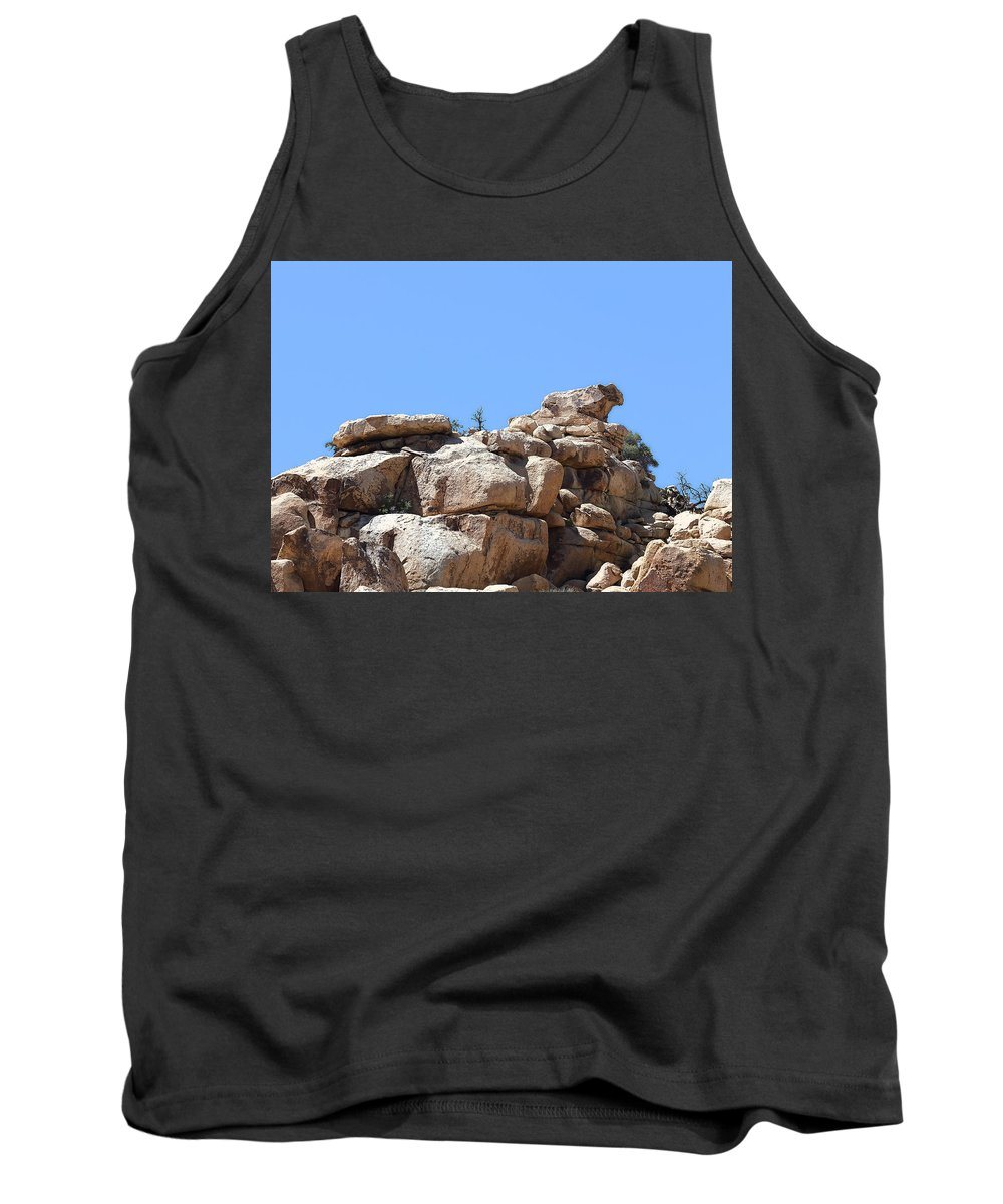 Bull From Joshua Tree Tank Top featuring the photograph Bull From Joshua Tree by Viktor Savchenko