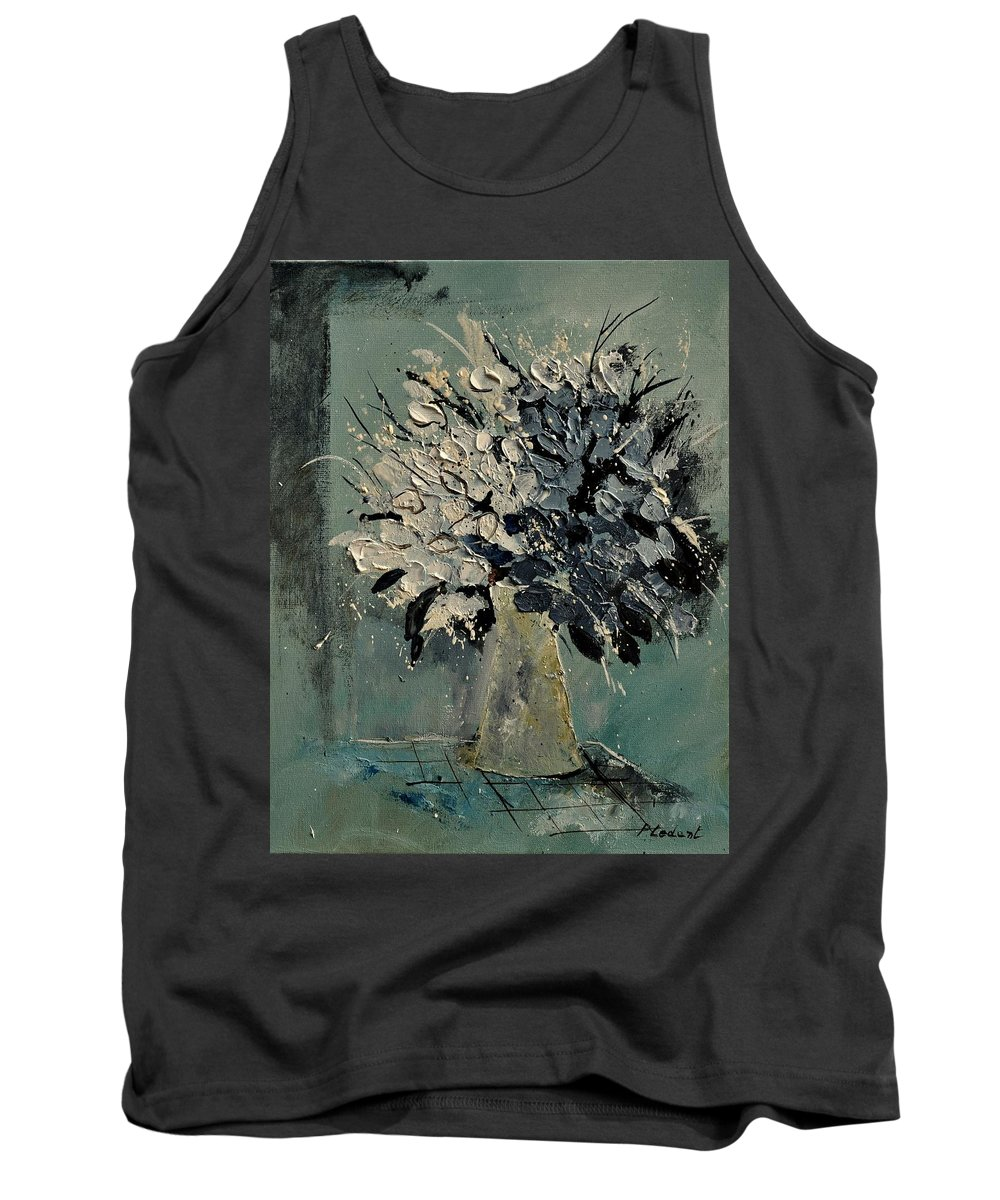 Flowers Tank Top featuring the painting Bunch 451110 by Pol Ledent