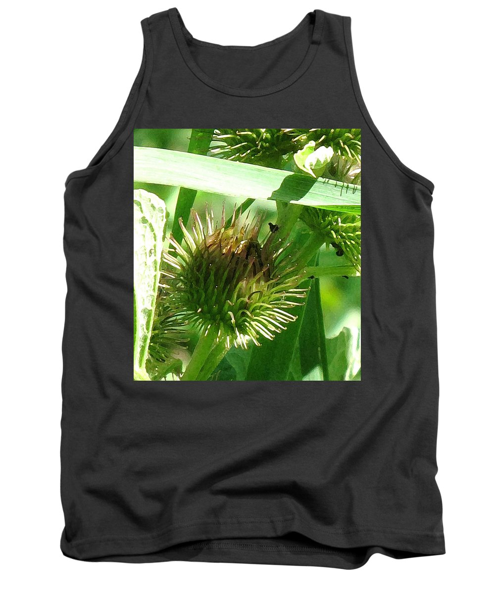 Flower Tank Top featuring the photograph Bursting by Ian MacDonald