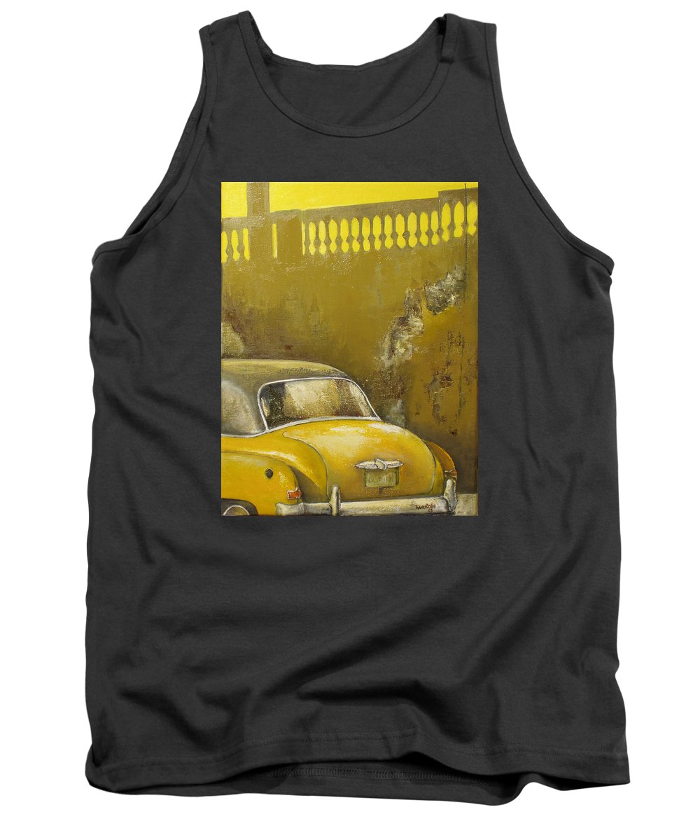 Havana Tank Top featuring the painting Buscando La Sombra by Tomas Castano
