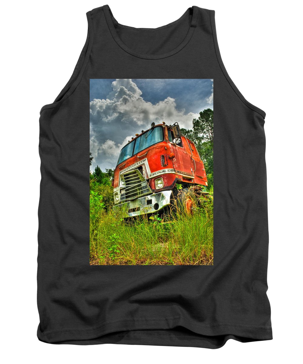 Truck Tank Top featuring the photograph Busted And Rusted by Rich Leighton