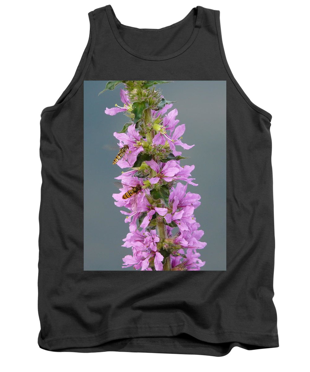 Flower Tank Top featuring the photograph Busy Flower by Valerie Ornstein