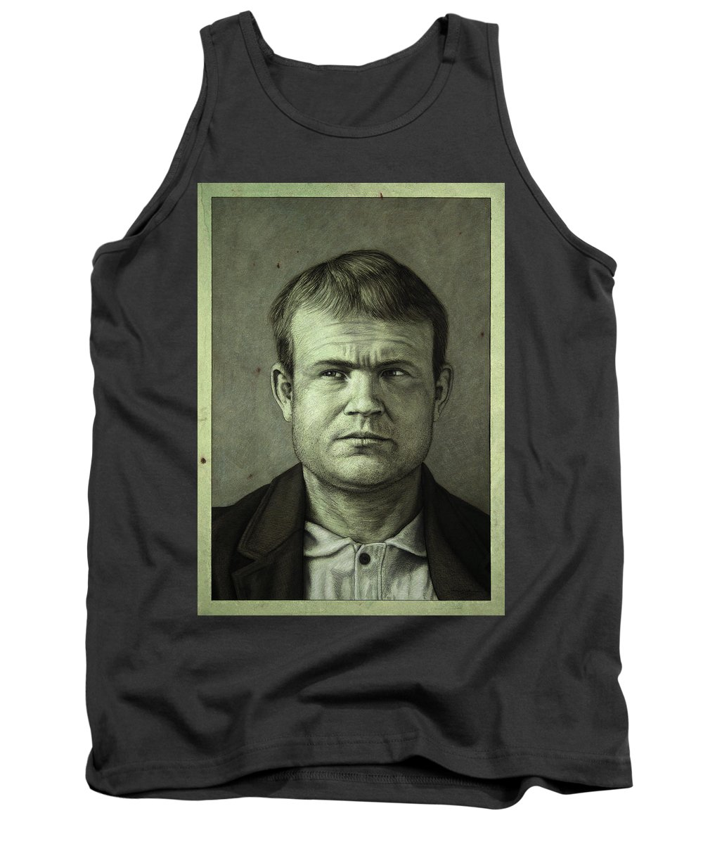 Butch Cassidy Tank Top featuring the painting Butch Cassidy by James W Johnson