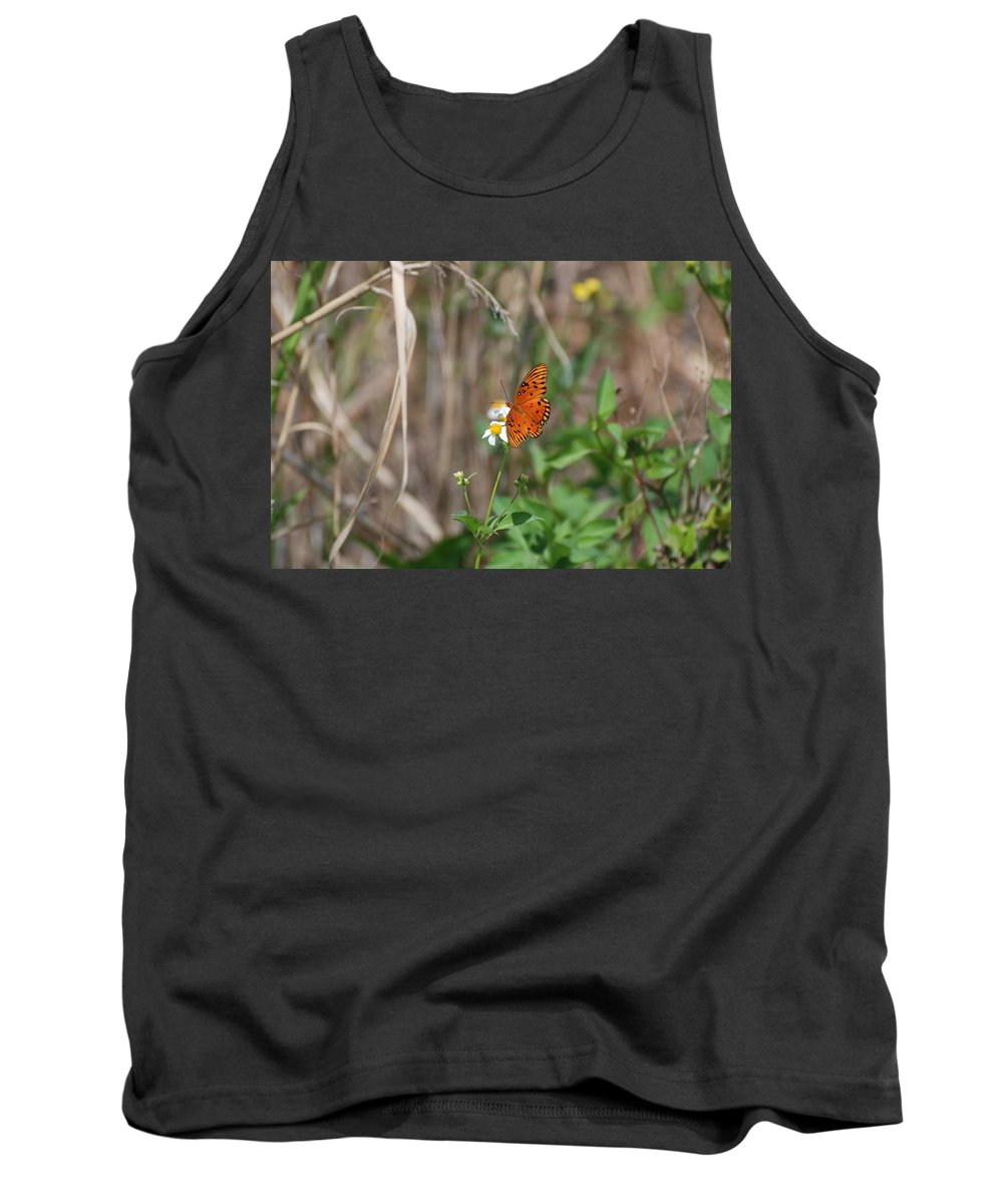 Nature Tank Top featuring the photograph Butterfly On Flower by Rob Hans
