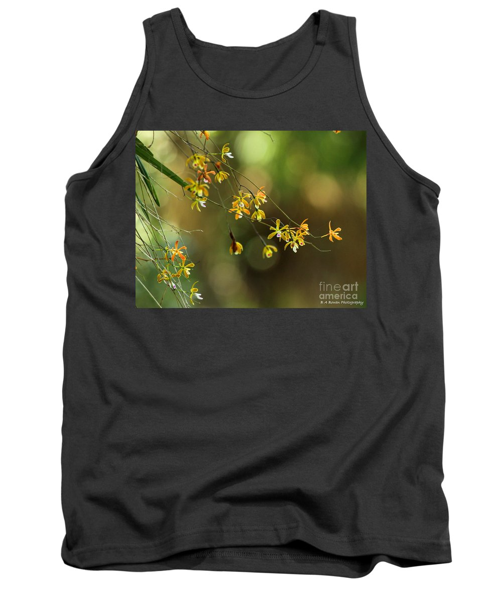 Butterfly Orchid Tank Top featuring the photograph Butterfly Orchid by Barbara Bowen