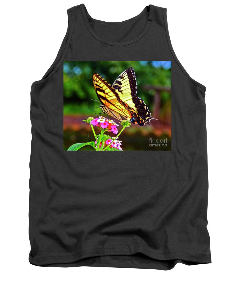 Butterfly Tank Top featuring the photograph Butterfly Series #8 by Edita De Lima