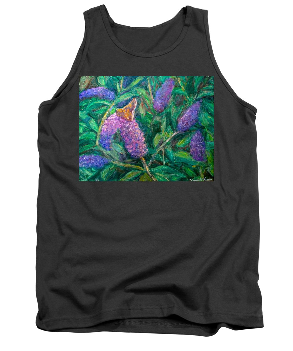 Butterfly Tank Top featuring the painting Butterfly View by Kendall Kessler