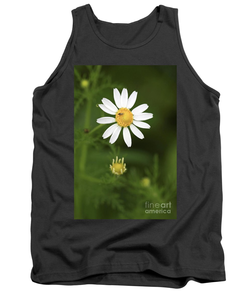 Flower Tank Top featuring the photograph By The Pond by Deborah Benoit