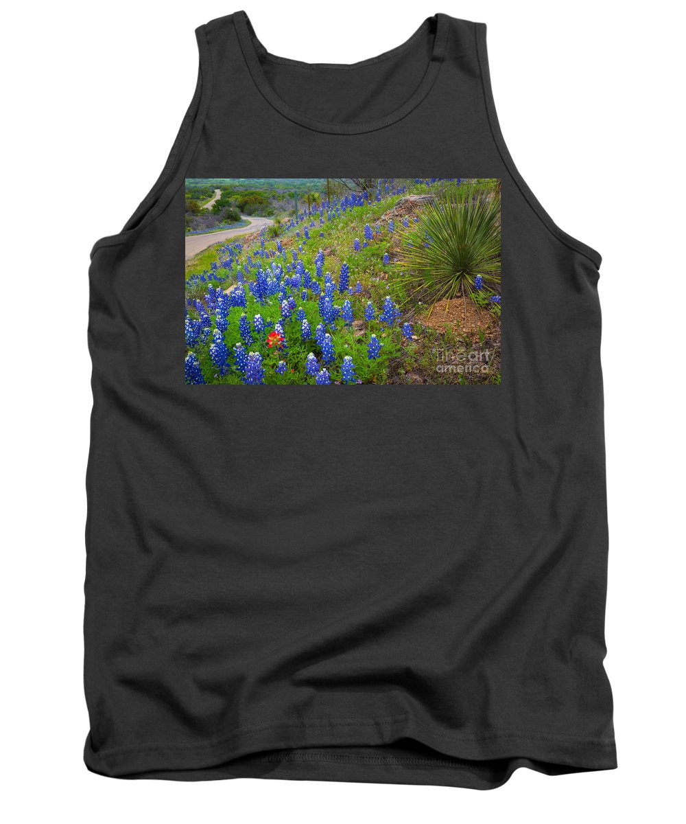 America Tank Top featuring the photograph By The Roadside by Inge Johnsson