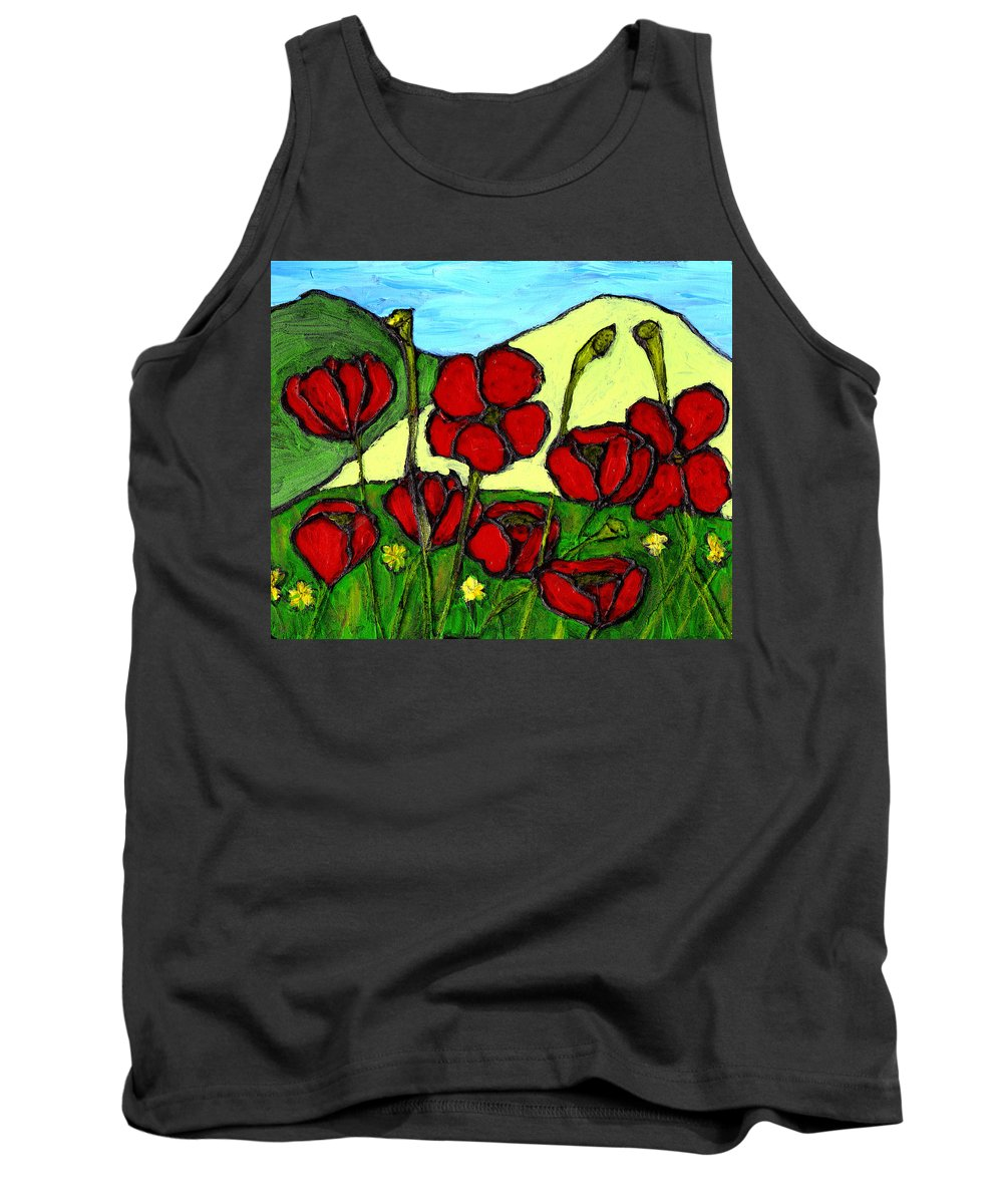 Flowers Tank Top featuring the photograph By The Side Of The Road by Wayne Potrafka