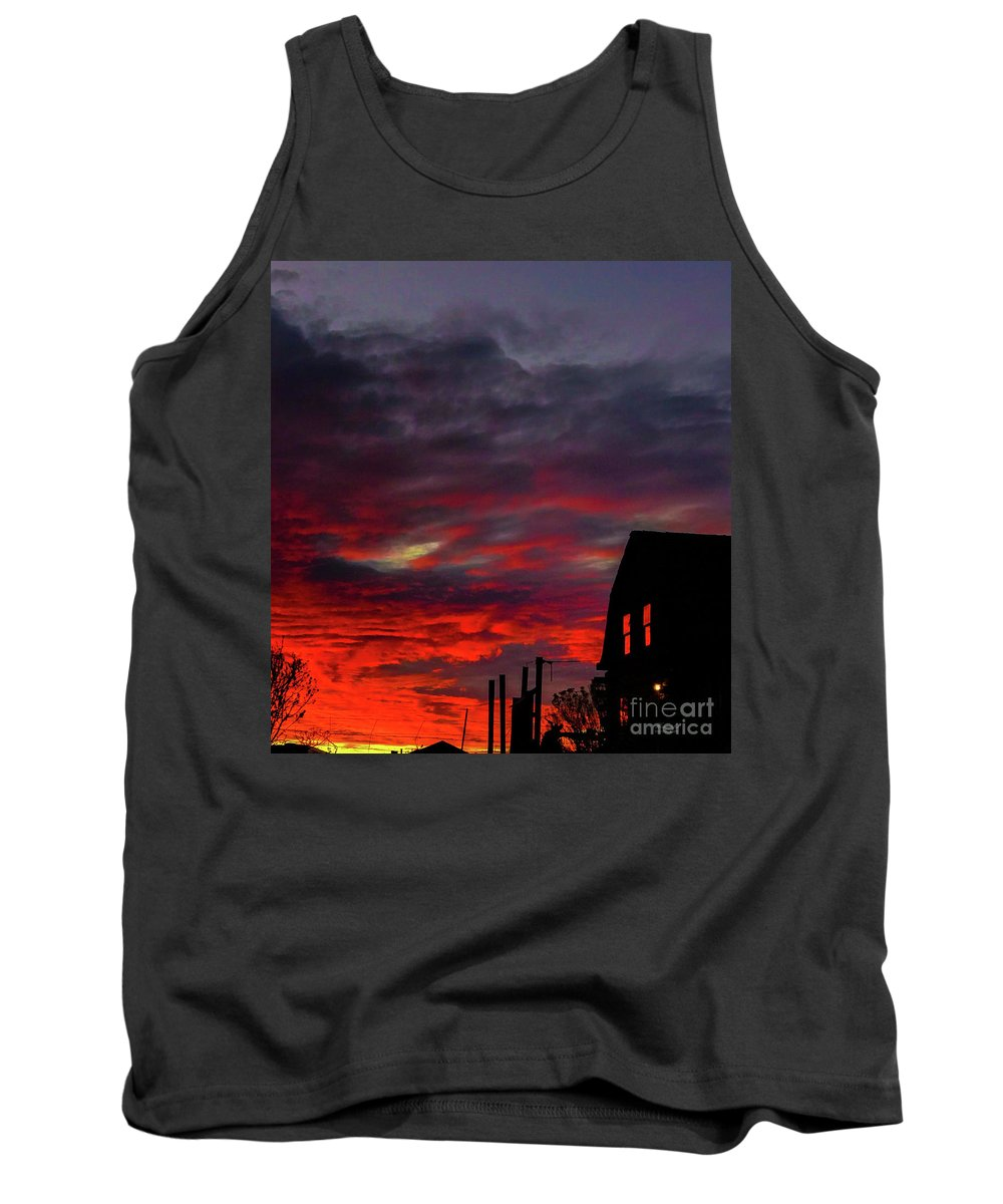 Landscape Tank Top featuring the photograph Cabin In The Shadows by Stacy Hannahs