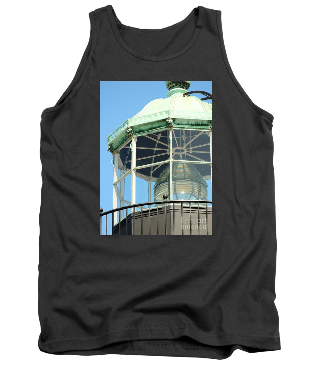 Fresnel Tank Top featuring the photograph Cabrillo Lighthouse 1 by Marta Robin Gaughen