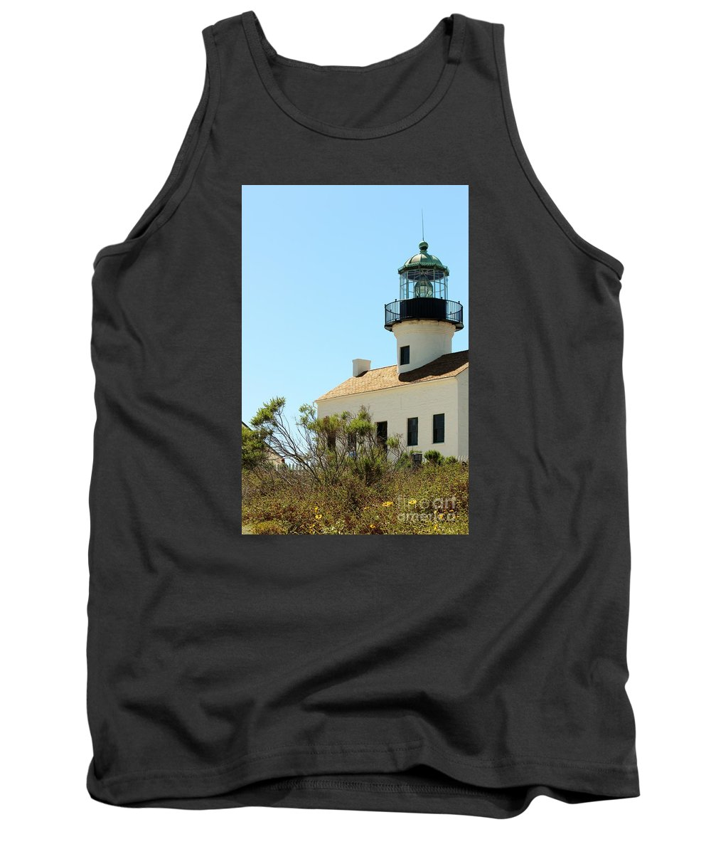 Cabrillo Lighthouse Tank Top featuring the photograph Cabrillo Lighthouse by Marta Robin Gaughen