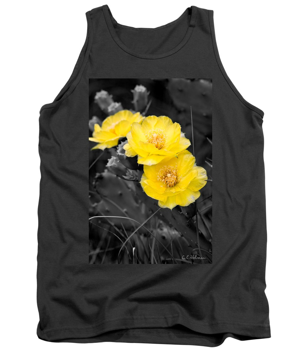 Cactus Tank Top featuring the photograph Cactus Blossom by Christopher Holmes