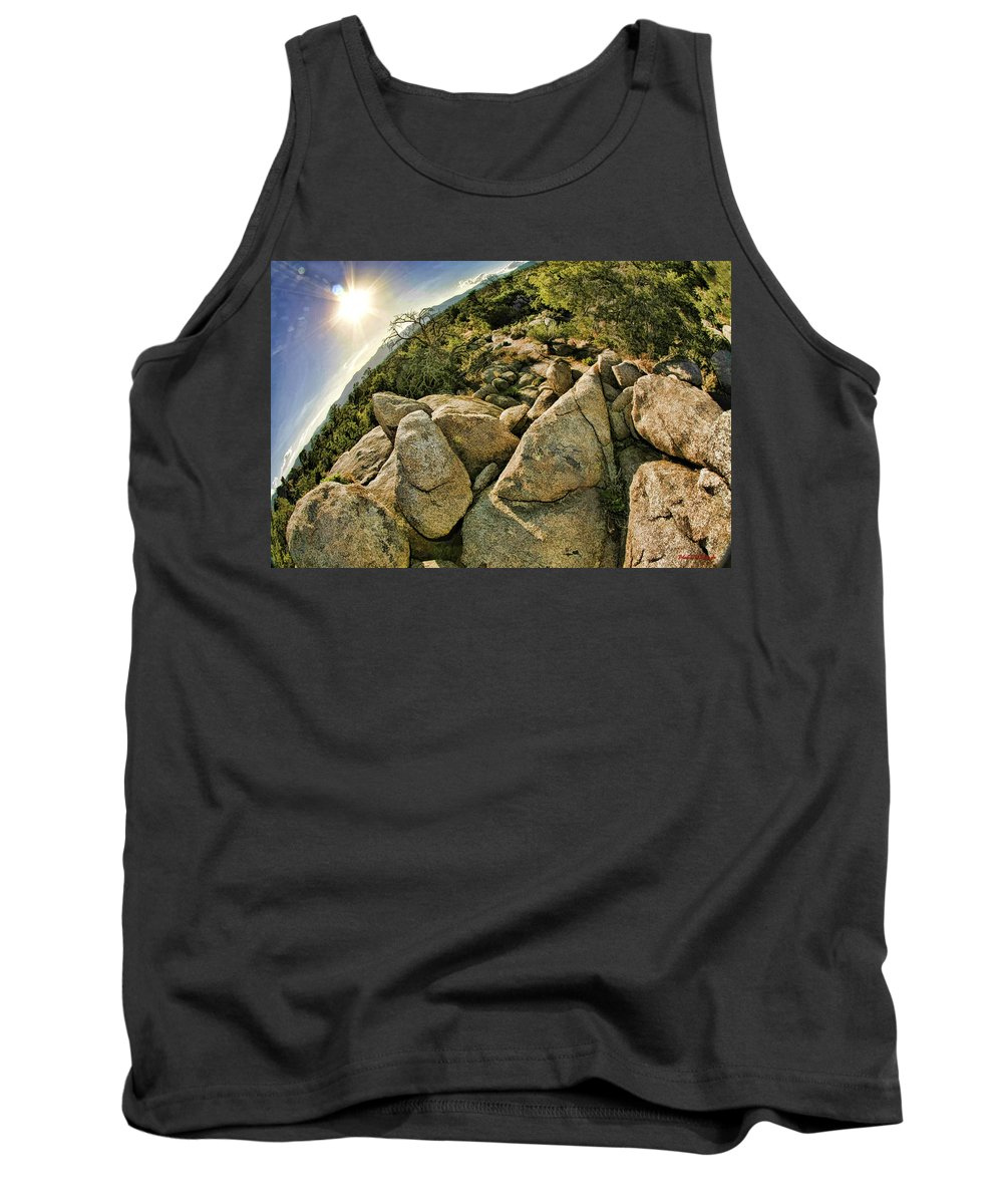 Tank Top featuring the photograph Cactus Rock by Blake Richards