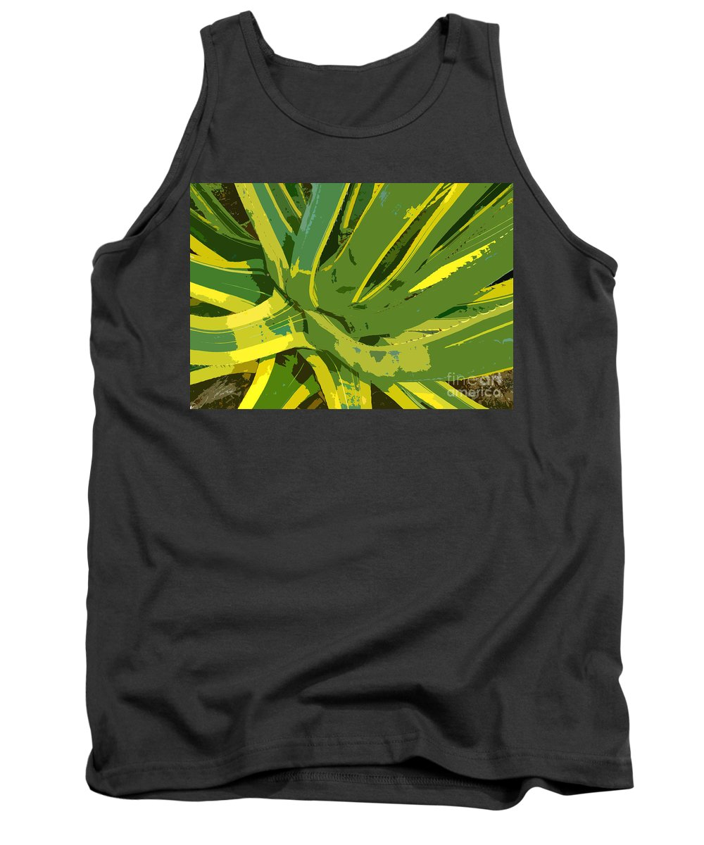 Cactus Tank Top featuring the photograph Cactus Work Number 2 by David Lee Thompson