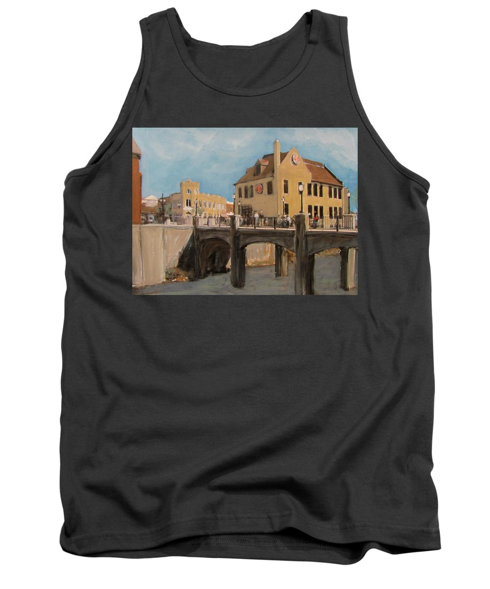 Milwaukee Tank Top featuring the mixed media Cafe Hollander 1 by Anita Burgermeister