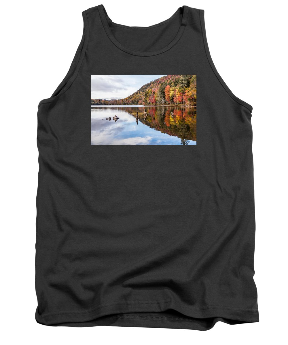 Cairn Tank Top featuring the photograph Cairns On Moss Lake by Sandy Roe