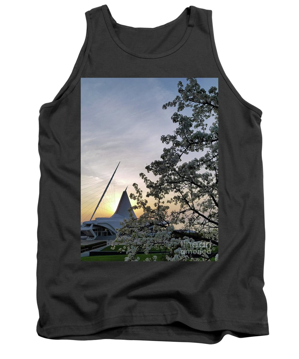 Milwaukee Tank Top featuring the photograph Calatrava Sunrise In Spring by Eric Curtin