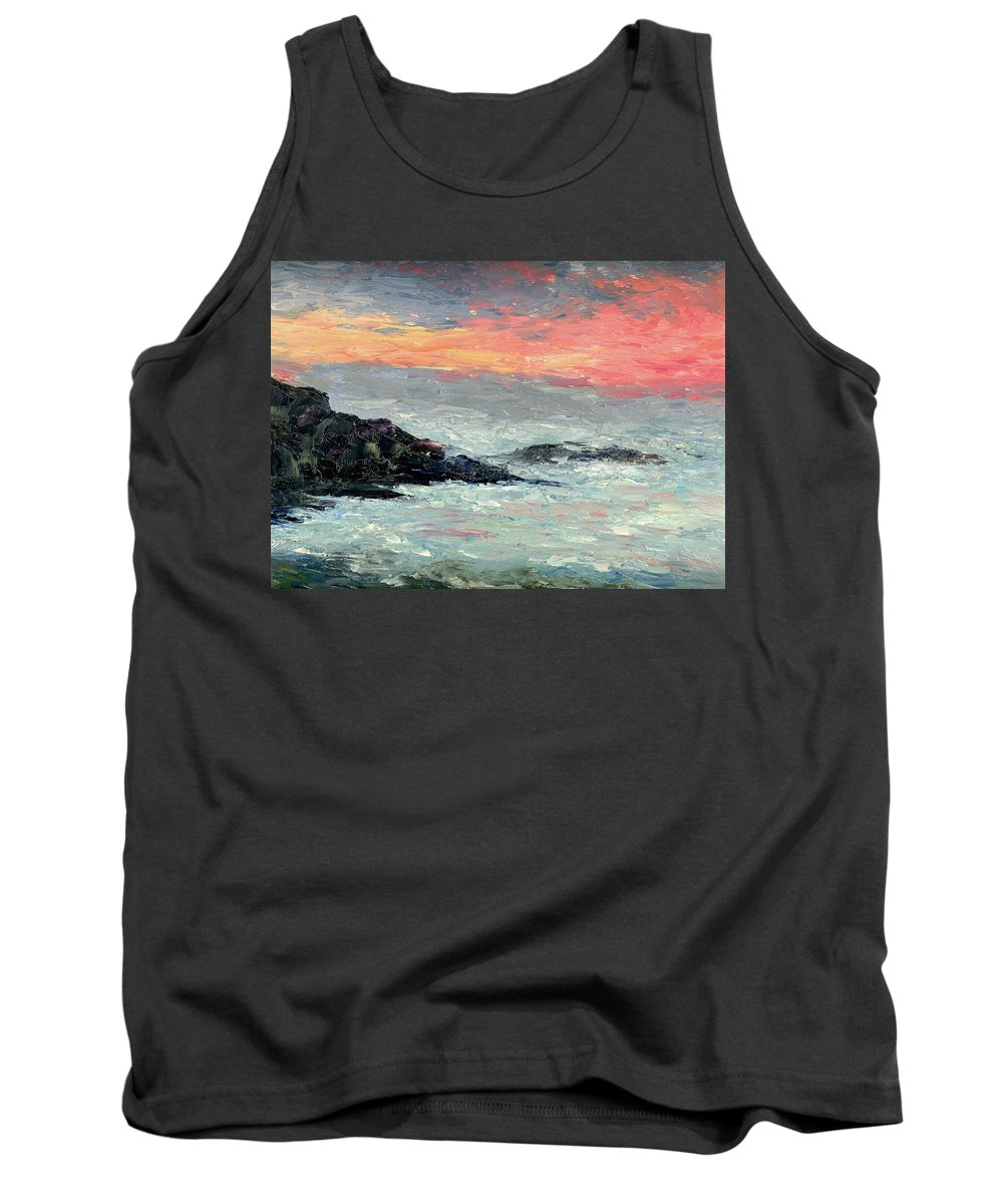 Seascape Tank Top featuring the painting California Coast by Gail Kirtz