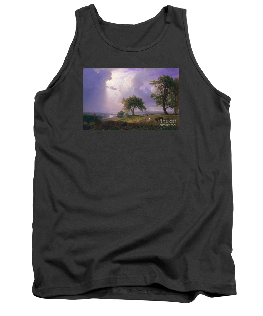 Albert_bierstadt_-_california_spring_-_google_art_project Tank Top featuring the painting California_spring by Celestial Images