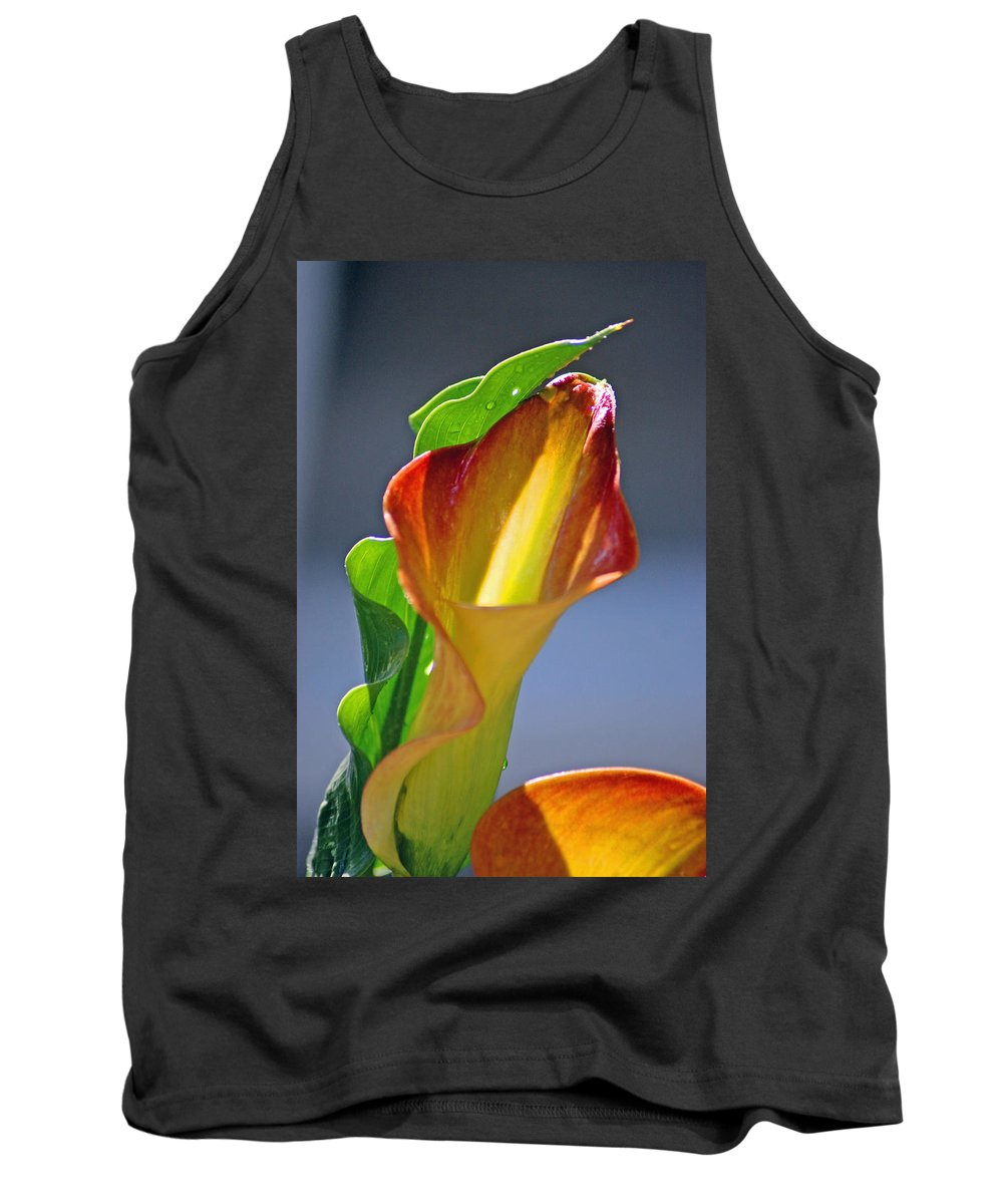 Flowers Tank Top featuring the photograph Calla Lilies by Donna Bentley