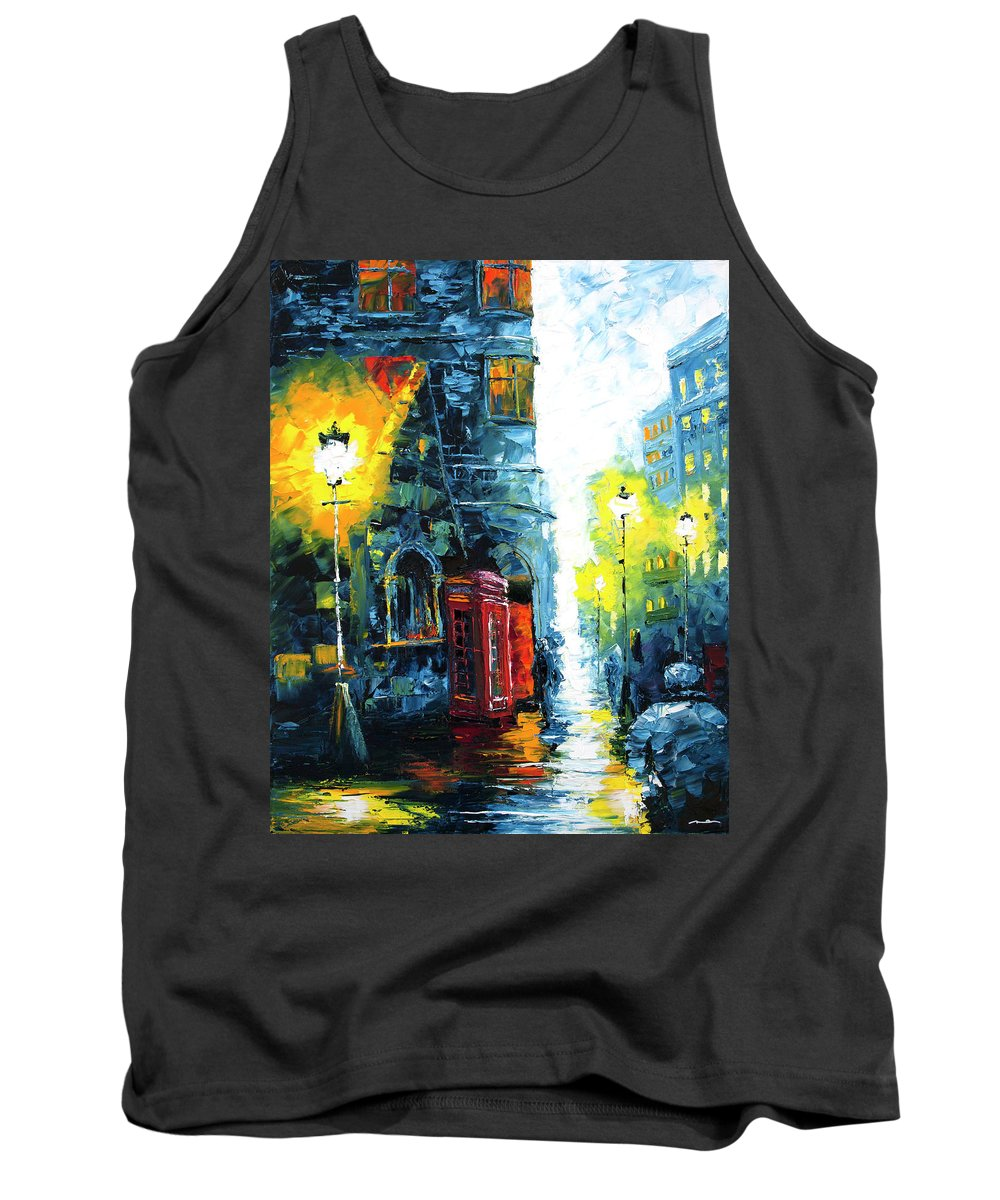 London Tank Top featuring the painting Calling Home by Nelson Ruger